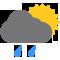 Durante la prima parte della giornata Nubi sparse con qualche pioggia tendente nella seconda parte della giornata Nubi sparse