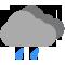 Durante la prima parte della giornata Poco nuvoloso con qualche pioggia tendente nella seconda parte della giornata Nubi sparse con qualche pioggia