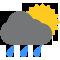 Tutto il giorno Nubi sparse con piogge moderate